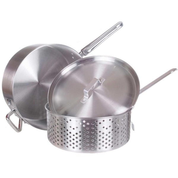 "14"" Deep Fry Pot w/perforated aluminum basket - Richard's Supply Inc"