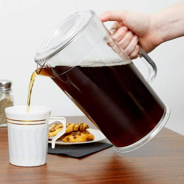 64 oz. Customizable Covered Plastic Pitcher - Richard's Supply Inc