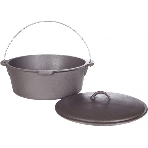 16 qt. Cast Iron Dutch Oven, w/iron lid - Richard's Supply Inc