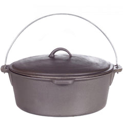 12 qt. Cast Iron Dutch Oven w/iron lid - Richard's Supply Inc