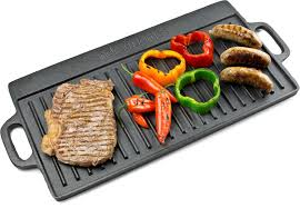 "pro grid reversible griddle,cast iron, 9"" X 17"""