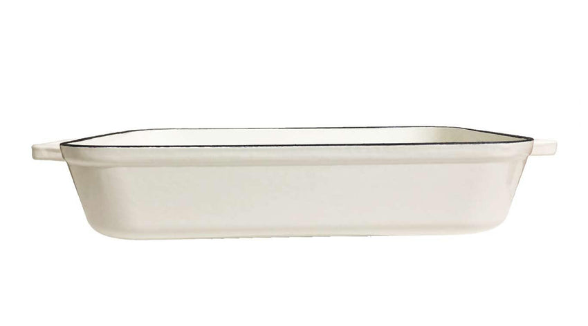 White Enamel Baking Dish