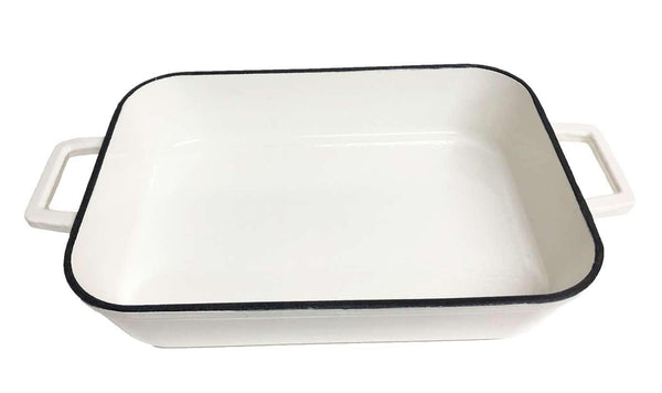 White Enamel Baking Dish - Richard's Supply Inc