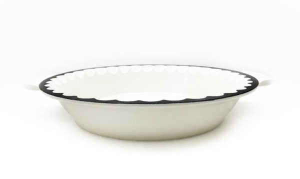 Pie Plate – Enamel Coated – 10″- White