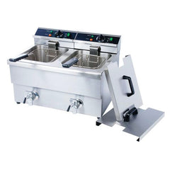 Adcraft Countertop Electric Fryer - (2) 25 lb Vats, 208v/1