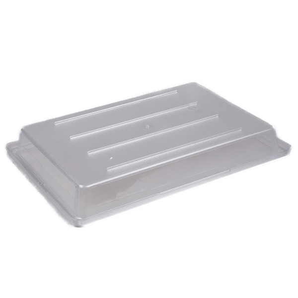 "Cambro Camwear 26"" x 18"" x 3 1/2"" Clear Polycarbonate Food Storage Box"
