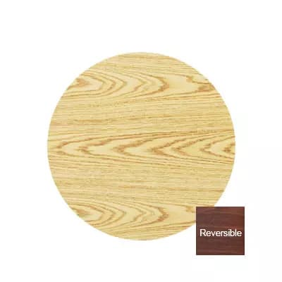 "Royal Industries 24"" Oak/Walnut Round Reversible Melamine Table Top"