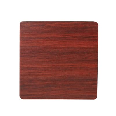 "Royal Industries 36"" x 36"" Oak/Walnut Square Reversible Melamine Table Top"