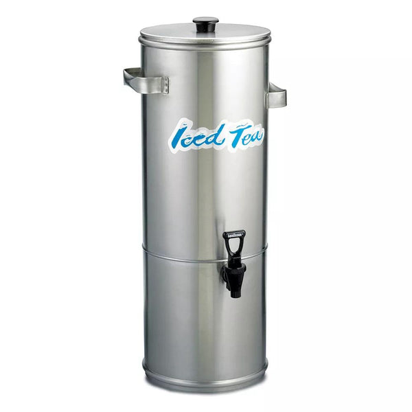 5 gal Round Iced Tea Coffee Dispenser w/ Handles - Richard's Supply Inc