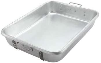 "Aluminum Roast Pan with Straps and Handles (Top) - 24"" x 18"" x 4 1/2"" - Richard's Supply Inc"