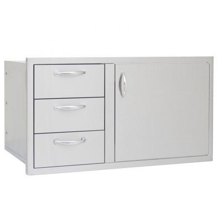 Blaze 39 in Access Door and Triple Drawer Combo