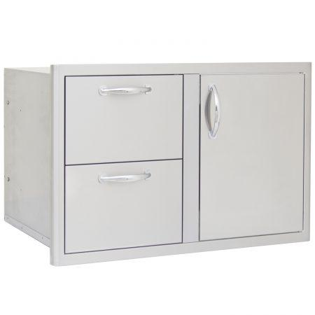 Blaze 32 in Access Door & Double Drawer Combo