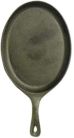 "Fajita Skillet, 7"" x 9-1/4"", oval, with handle and hanging hole, cast iron"