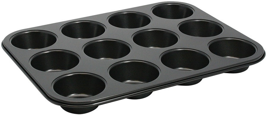 "Muffin Pan, 12 cup, 3 oz., 15-1/2"" x 11"", rectangular, non-stick, carbon steel"