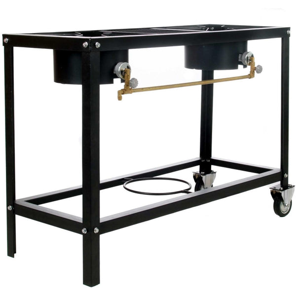 2 BURNER STOVE ON WHEEL CART – LOW PRESSURE