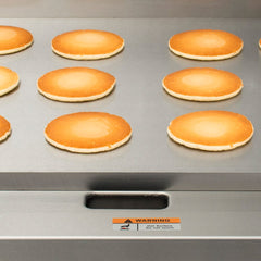 "Globe 24"" Gas Griddle w/ Manual Controls - 1"" Steel Plate, Convertible"
