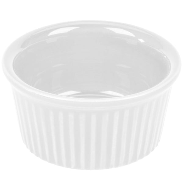 4 oz. Super White China Fluted Ramekin - Richard's Supply Inc