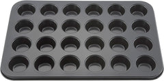 "Mini Muffin Pan, 24 cup, 1-1/2 oz., 13-3/4"" x 10-1/2"", rectangular, non-stick, carbon steel"