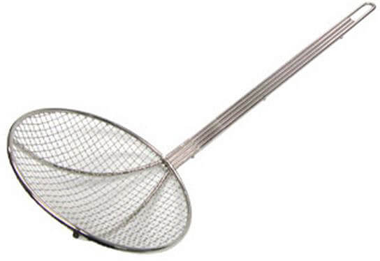 "Admiral Craft 9"" Chrome Plated Wire Mesh Skimmer"