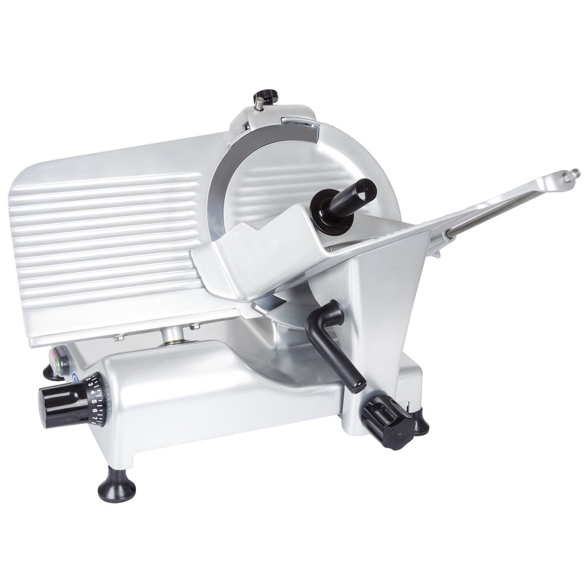 "Globe 10"" Manual Gravity Feed Slicer - 1/3 hp"