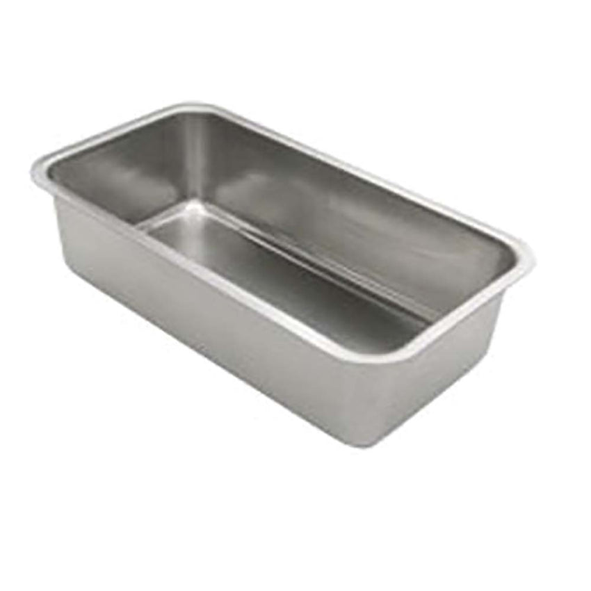 "Loaf Pan, 9-3/8"" x 5-1/4"" x 2-1/2"" deep, oblong, stainless steel"