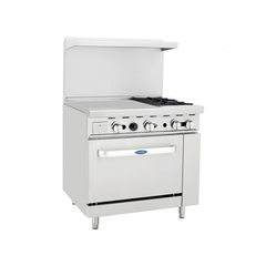 "CookRite 36″ Gas Range (2 Burner with 24"" Griddle Top)"