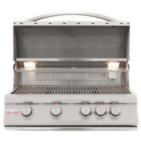 BLAZE LTE 32 INCH 4-BURNER GAS GRILL WITH REAR BURNER AND BUILT-IN LIGHTING SYSTEM