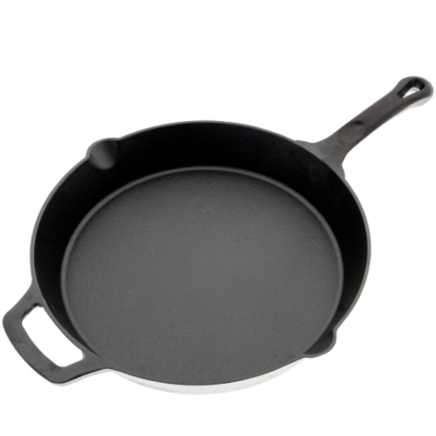 "FireIron Skillet, 12"", round, with helper handle, induction"
