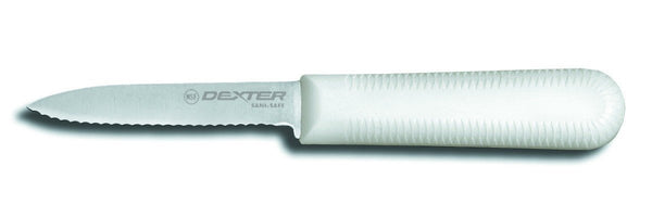 "Dexter Russell S104SC-PCP 3 1/4"" Sani Safe® Paring Knife w/ Polypropylene White Handle"
