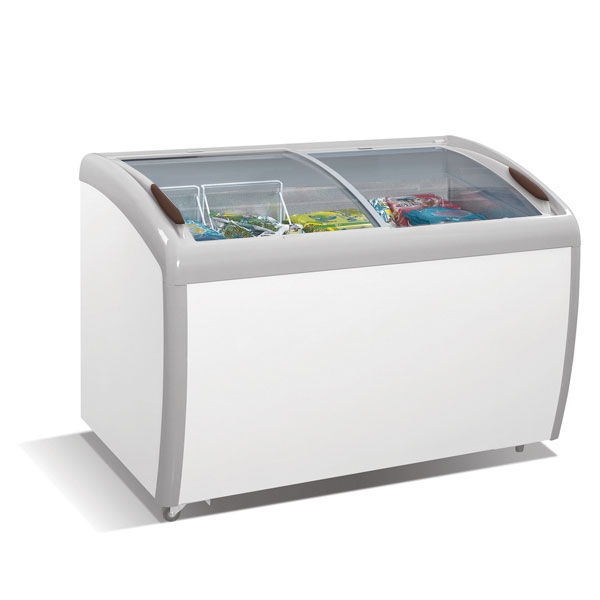 Atosa Angle Curved Top Chest Freezer (Glass Arc Lid)