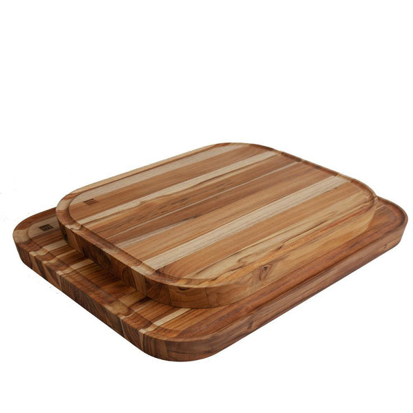 "Premium Sustainable Teak cutting & Serving board, 12.5"" x 15.5"" x 1.25"""