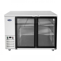 Atosa 48'' Glass Door Back Bar Cooler - S/S