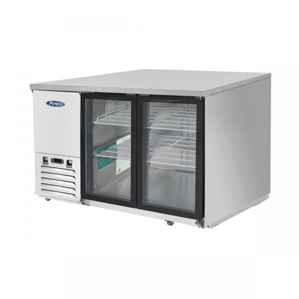 Atosa 59'' Glass Door Back Bar Cooler - S/S