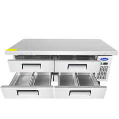Atosa 76'' Extended Top Chef Base with 72'' Cabinet