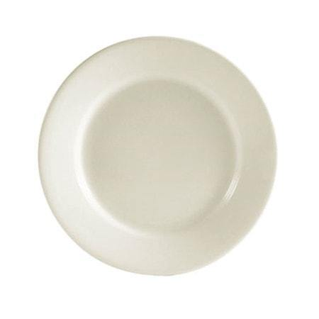 "8.25"" Ceramic Rolled Edge Salad Plate/American White - Richard's Supply Inc"