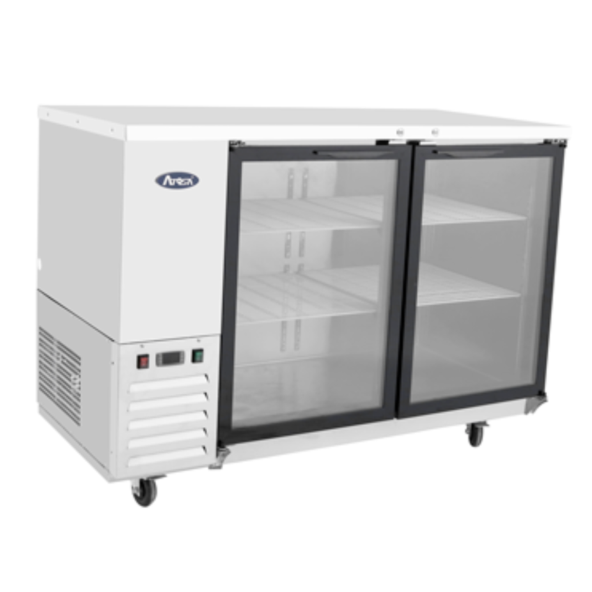 "Atosa 59"" Back Bar Cooler w/ Glass Door Shallow Depth (S/S Exterior)"