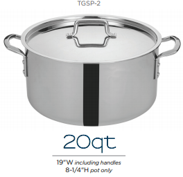 Tri-Gen™ Tri-Ply Stainless Steel Stock Pot with Cover - Richard's Supply Inc