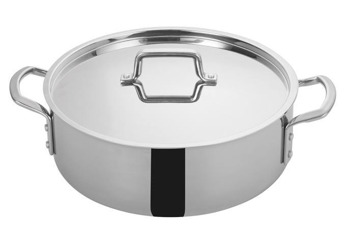 Tri-Gen™ Tri-Ply Stainless Steel Brazier with Cover - Richard's Supply Inc