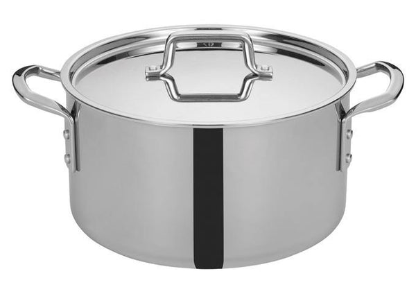 Tri-Gen™ Tri-Ply Stainless Steel Stock Pot with Cover