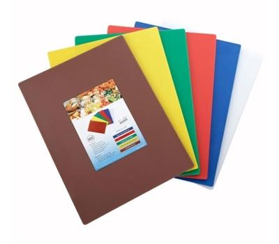 "15"" x 20"" Color Coded Plastic Cutting Board Set - Richard's Supply Inc"