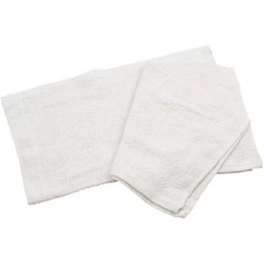 "White 16"" x 19"" Cotton Bar Towel"