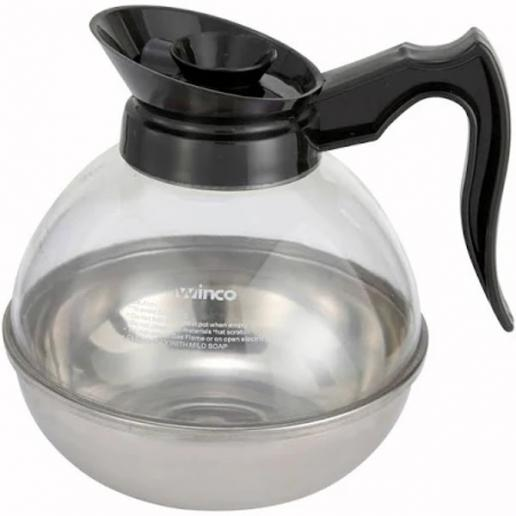 64 oz. Polycarbonate Coffee Decanter (Black) - Richard's Supply Inc