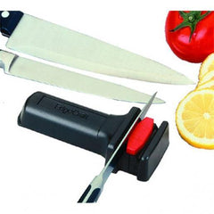 Manual 2-Stage Compact Diamond Hone Knife Sharpener For Straight Blades - Richard's Supply Inc