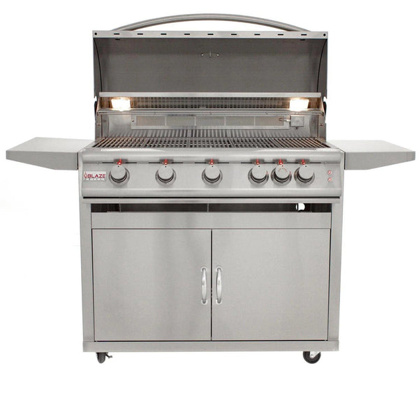 BLAZE LTE 40 INCH 5-BURNER GAS GRILL WITH REAR BURNER AND BUILT-IN LIGHTING SYSTEM