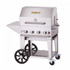 "Mobile Outdoor Charbroiler, LP gas, 28""x 21"" grill area, 4 burners, stainless steel"