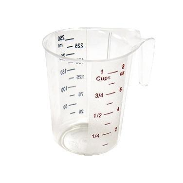 1 Cup Raised Markings Clear Polycarbonate Measuring Cup - Richard's Supply Inc