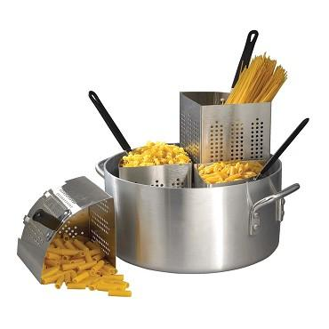 20 Quart Pasta Cooker Set with 4 Stainless Steel Inserts