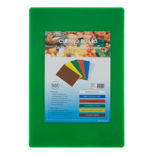 "15"" x 20"" Green Plastic Cutting Board"
