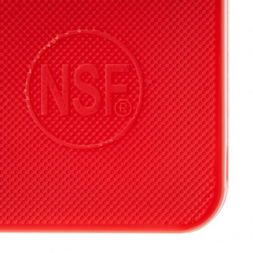 "15"" x 20"" Red Plastic Cutting Board - Richard's Supply Inc"