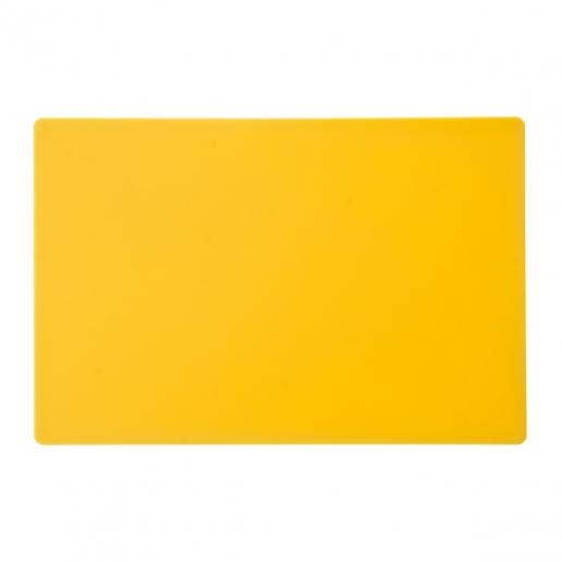 "12"" x 18"" x 1/2"" Yellow Cutting Board - Richard's Supply Inc"